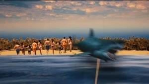 Stillbild ur Hajen från SVTs Film på Minuten.